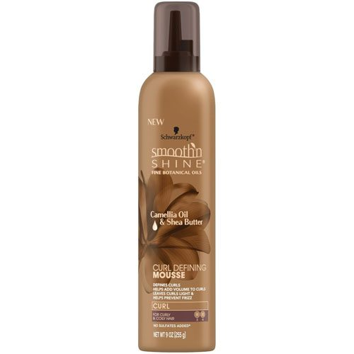 SMOOTH N SHINE CURL DEFINE MOUSSE 9oz BWN